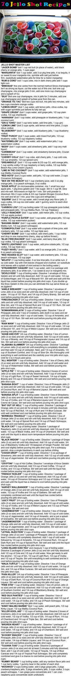 70 Jello Shot Recipes Pictures, Photos, and Images for Facebook, Tumblr, Pinterest, and Twitter