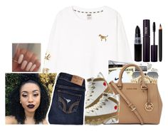 """""""peopel try'na still my lango"""" by kiingmiyah ❤ liked on Polyvore featuring Victoria's Secret PINK, Ray-Ban, Retrò, Hollister Co. and INIKA"""