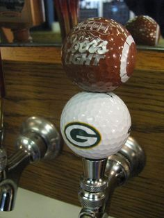 GREEN BAY PACKERS COORS LIGHT GOLF BALL BEER TAP HANDLE AARON RODGERS TEAM