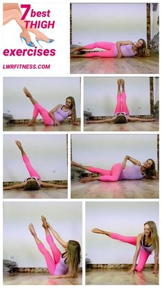 Leg Training - Train your inner and outer thighs with these 7 leg exercises - Fitness workouts - yoga Fitness Workouts, Butt Workout, Fitness Diet, Yoga Fitness, Health Fitness, Fitness Expert, Inner Leg Workouts, Best Thigh Exercises, Toned Legs Workout