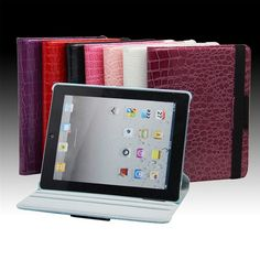 Protective Case Brilliant Crocodile Pattern with 360° Rotation for iPad 2 / the New iPad