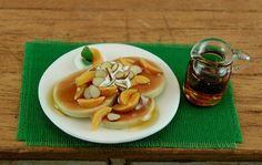 Peaches and Cream Pancakes with Almonds and by EverydayGourmet
