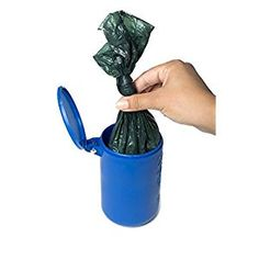 Doo Doo Tube Filled Dog Waste Bag Holder - Reusable Dog Poop Bag Tube Designed to Keep in Odo. awesome Portable garbage can carries filled dog waste bags, keeping in odors and germs. Online Pet Supplies, Dog Supplies, Smelly Dog, Dog Store, Medium Sized Dogs, Blue Dog, Girl And Dog, Baby Dogs, Dog Walking