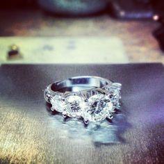 5+ cttw diamond and whitegold #tw #instajewelrygroup #whitegold #diamonds #jewelrydesign #justinwellsjewelry #jewelerbench #instajwfb  (at Moody's Jewelry)