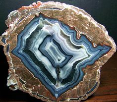Baker agate. The Baker Egg Mine is located 35 miles southwest of Deming, NM. These nodules are thundereggs.