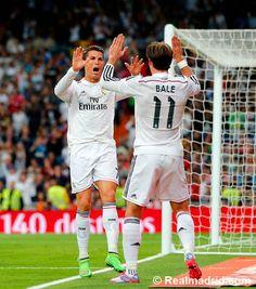Ronaldo and Bale celebrate (again!)