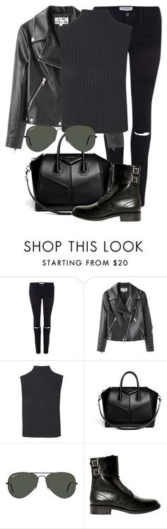 """Untitled #1912"" by annielizjung ❤ liked on Polyvore featuring Frame, Acne Studios, Boohoo, Givenchy, Ray-Ban and Yves Saint Laurent"