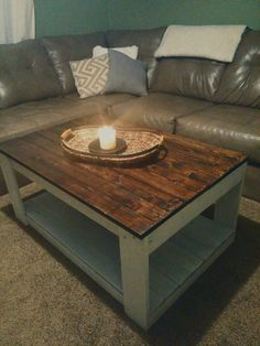 Beautiful Rustic Wood Pallet Coffee Table SUMMER SALE PRICE (185.00 USD) by CollensRusticDesigns