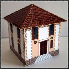 Villa Nicoise Free Building Paper Model Download - http://www.papercraftsquare.com/villa-nicoise-free-building-paper-model-download.html