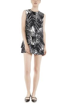 Marc Jacobs Sleeveless Palm Print Dress