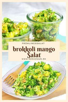 Frühlingshafter Brokkoli Mango Salat - mit und ohne Thermomix Anleitung