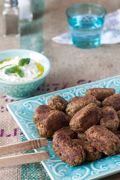 Lentil Keftethes (faux meatballs) with Tzatziki [Greek Vegetarian]
