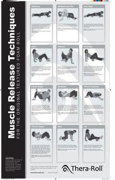 Foam roller exercises: my commitment for the next month. My knees need loving care right now. :(