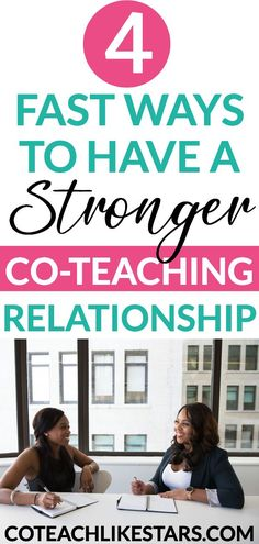 Do you & your co-teacher need a relationship boost? This post shares 4 FAST Strategies to develop a stronger co-teaching relationship Co Teaching, Teaching Special Education, Teaching Reading, Teaching Resources, Teaching Ideas, Relationship Posts, Strong Relationship, Relationship Struggles, Teacher Tools
