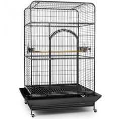 Empire Cage Square Top (46X36X78 - SILVER HAMMERTONE)