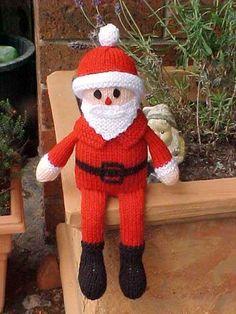 Free Santa Doll Knitting Pattern and more Christmas decoration knitting patterns Christmas Knitting Patterns, Knitting Patterns Free, Free Knitting, Baby Knitting, Knitted Christmas Decorations, Christmas Crafts, Xmas Decorations, Holiday Decor, Santa Doll