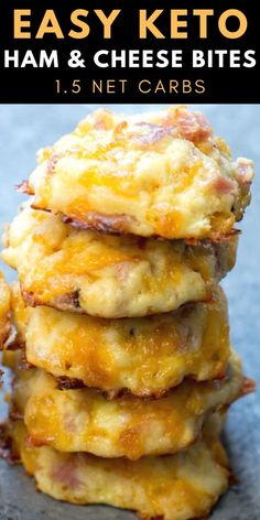 These Keto Ham and Cheese Bites are only net carb and great warm or cold! This is an easy keto meal prep recipe! These Keto Ham and Cheese Bites are only net carb and great warm or cold! This is an easy keto meal prep recipe! Ketogenic Recipes, Diet Recipes, Dessert Recipes, Slimfast Recipes, Tuna Recipes, Vegetarian Recipes, Breakfast Recipes, Health Recipes, Breakfast Casserole With Ham