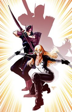 Hawkeye and Mockingbird cover by PaulRenaud on DeviantArt