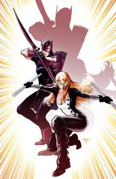 Hawkeye and Mockingbird cover by PaulRenaud on DeviantArt