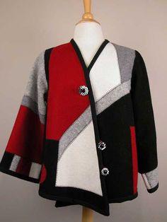 Make Sweatshirt into Jacket | Sweatshirt into Jacket Pattern | ... way to go green and up cycle wool ...