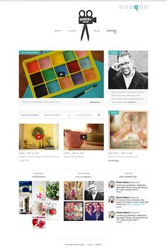 Robert Mahar (robert-mahar.com) website design by Lauren Hardage for Aeolidia