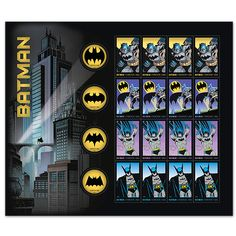 For 75 years, Batman has protected Gotham City from the forces of evil. Since his debut, he has become one of the most iconic super heroes in history. In 2014 the U.S. Postal Service® chronicles the evolution of the character, from his origins to present day.
