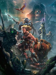 Check out this spectacular Masters of the Universe artwork by Ryan Barger! I think no matter how old I get, a big part of me will always live in Eternia. That perfect mix of barbarian fantasy, [. Master Of The Universe, Universe Art, Nathan Uncharted, He Man Tattoo, Comic Books Art, Comic Art, Comic Pics, Hee Man, He Man Thundercats