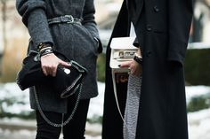 Stockholm Fashion Week Fall 2014 Street Style Day 2. Stella McCartney and Proenza Schouler bags. #streetstyle
