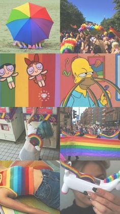 // p i n t e r e s t : ○Candy Milk● // Wallpaper Collage, Tumblr Wallpaper, Wallpaper Backgrounds, Gay Aesthetic, Aesthetic Collage, Aesthetic Iphone Wallpaper, Aesthetic Wallpapers, Rainbow Wallpaper, Rainbow Aesthetic