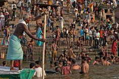 Crowds at Pilgrimage City   Varanasi, India