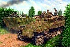 SdKfz 251/7 Ausf D Pioneerpanzerwagen mit 2.8cm sPzB41 , Panzer Lehr Div Normandía 1944- Barry Cook - Dragon