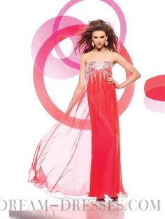 Exciting Sheath / Column Strapless Floor-length Chiffon Evening Dresses with Sequined