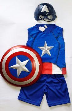 Decoração de festa tema Capitão América...Captain America Birthday Party Ideas Captain America, Superhero, Fictional Characters, Birthday, Kids Part, Costumes, Ideas, Fiestas, Birthdays