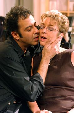 Tryst: Deirdre has a one-night stand with Dev