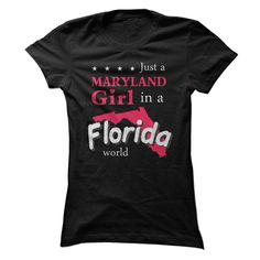 Pride of Maryland Ladies live in Florida t-shirt