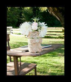 Burlap Rustic lace wedding ideas