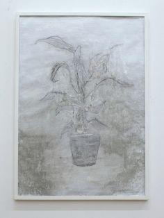 LA PIANTA BIANCA LUCA GRECHI Tecnica mista su carta, 100 x 70 cm, 2014   Un lavoro sulla sintesi, sul rapporto con l'immagine, la materia e le sue parti, per sottrazione la Pianta ha tirato fuori le sue linee..