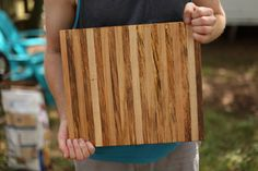 Cutting board made from maple and pecan wood
