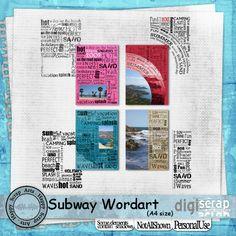 Subway wordart Vol.1 Rechthoek