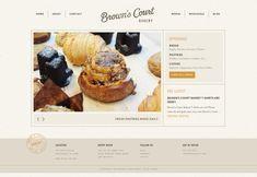 Brown's Court Bakery website has a Great Web Design Bakery Website, Restaurant Website Design, Food Website, Web Design Studio, Best Web Design, Homepage Design, Blog Design, App Design, Mise En Page Web