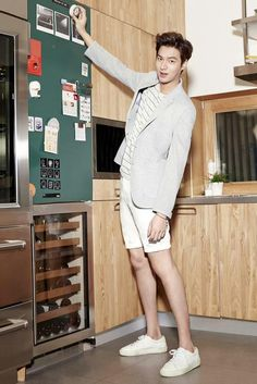 Is Lee Min Ho looking at every picture so tall?