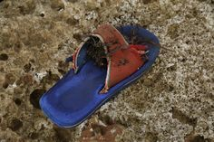 the secret life of  lost shoes on the beach