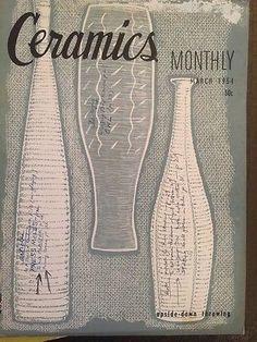 Ceramics Monthly Magazine 1950s Lot Of 3 Midcentury Modern Pottery Enameling