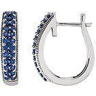 Genuine Sapphire Hoop Earrings Gemstone Earrings, Hoop Earrings, White Sapphire, White Gold, Bling, Jewels, Gemstones, Silver, Gold Fashion