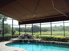 retractable awning within screened pool enclosure - Google Search