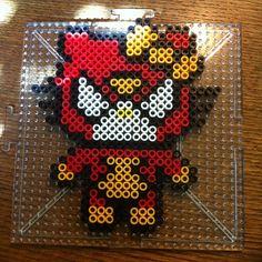 Spiderwoman Hello Kitty perler beads by splattycake