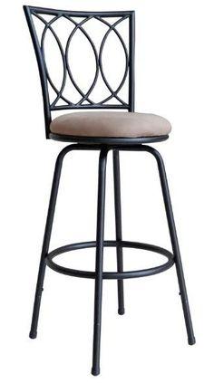Counter Height Swivel Bar Stool Adjustable Metal High Chair Kitchen Dining Seat #Redico #Modern