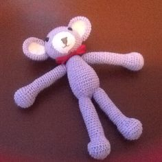 Crochet lilac bear mouse
