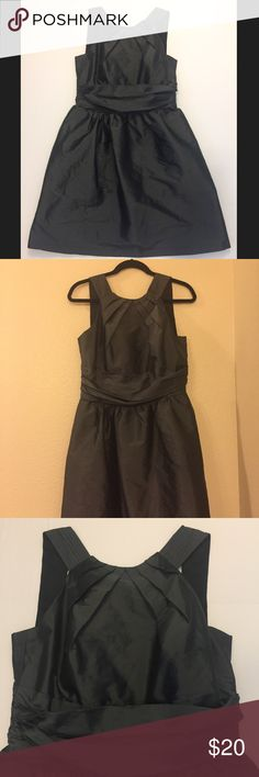 Alfred Sung Grey Formal Dress Brand/designer: Alfred Sung Grey shiny material great for a forma evening.  Size 12. Zipper down the back and pockets. Alfred Sung Dresses