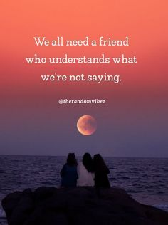 We all need a friend who understands what we're not saying. #Truefriendshipquotes #Strongfriendshipquotes #Friendshipquotes #Quotes #Lifequote #Realfriendshipquotes #Bffquotes #Bestfriendsquotes #Quotesforfriends #Deepfriendshipquotes #Bondoffriends #Quotesaboutfriends #Amazingquotes #Crazyfriendsquotes #Friendsforeverquotes #Deepquotes #Dailyquotes #Awesomequotes #Everydayquotes #Instaquotes #Instastories #Quoteoftheday #Quotes #Quotesandsayings #therandomvibez Strong Friendship Quotes, Besties Quotes, Catch Feelings, Everyday Quotes, Crazy Girl Quotes, Abraham Hicks Quotes, Friends With Benefits, Just Friends, Amazing Quotes